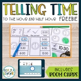 Telling Time to the Hour and Half Hour | Freebie