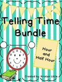 Telling Time to the Hour and Half Hour Activity Pack and B