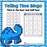 Telling Time to the Hour and Half Hour Bingo Game