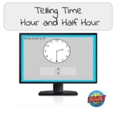 Telling Time to the Hour and Half Hour Boom Cards