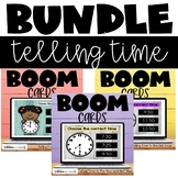Telling Time to the Hour and Half Hour Boom Cards Bundle D