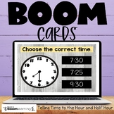 Telling Time to the Hour and Half Hour Boom Cards Distance