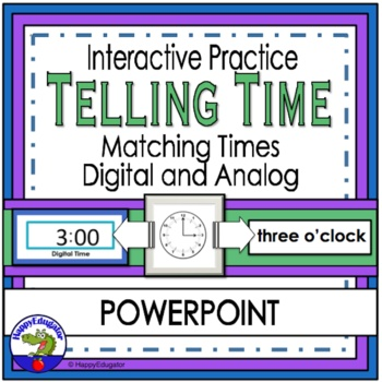 Telling Time to the Hour and Half Hour (Digital and Analog) PowerPoint