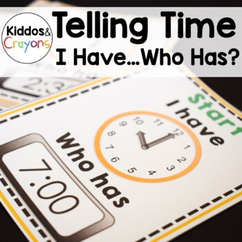 Telling Time to the Hour and Half-Hour Bundle