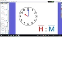 Telling Time to the Hour and Half Hour Flipchart