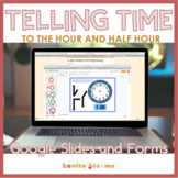Telling Time to the Hour and Half Hour Google Slides Dista