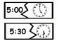 Telling Time to the Hour and Half Hour Match Up Puzzles