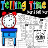 Telling Time to the Hour and Half Hour Practice Sheets and