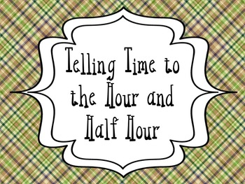 Telling Time to the Hour and Half Hour: Printables