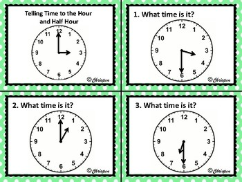 Telling Time to the Hour and Half Hour Scoot