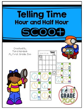Telling Time to the Hour and Half Hour - Scoot Game