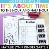 Telling Time to the Hour and Half-Hour Worksheets