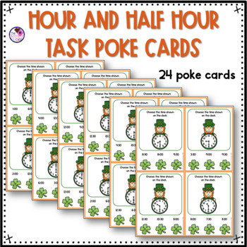 Telling Time to the Hour and Half Hour on a Clock FREEBIE