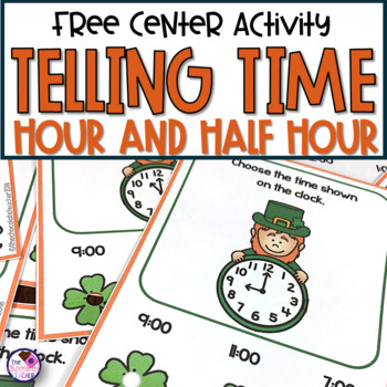 Telling Time to the Hour and Half Hour on a Clock FREE