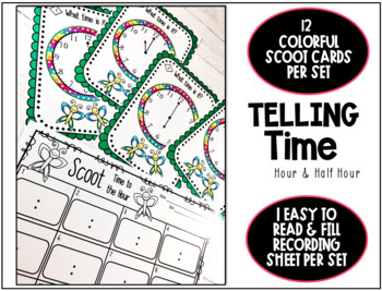 Telling Time Worksheets - Hour and Half Hour