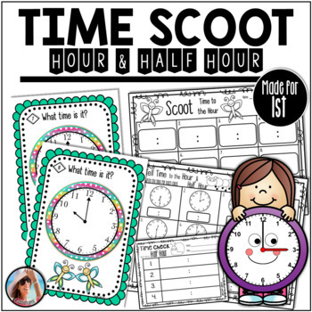 Telling Time to the Hour and Half Hour with Scoot, Time Ch