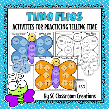 Telling Time Activities- Hour and Half Hour