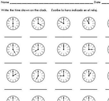 Telling Time to the Hour (sample) - by Sinh Trinh