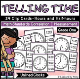 Telling Time to the Hours and Half-hours with Analog Clock