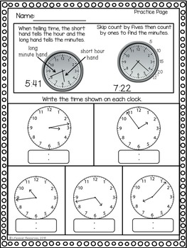 Telling Time to the Minute - 3 Game Set + Printables