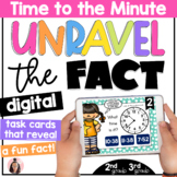 Telling Time to the Minute Digital Math Game