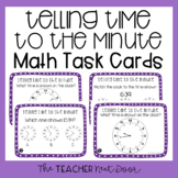 Telling Time to the Minute Task Cards for 3rd Grade