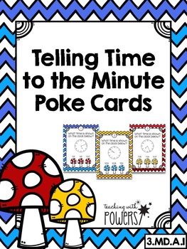 Telling Time to the Minute Poke Cards