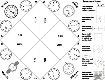 Telling Time to the Minute Game