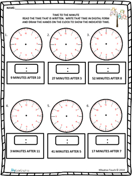 Telling Time to the Minute Quick Checks