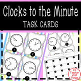Telling Time to the Minute SOL 3.9a Task Cards