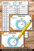 Telling Time to the Minute Task Cards 3rd Grade Math Cente