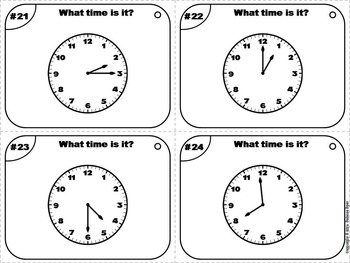 Telling Time to the Minute Task Cards/ Telling Time to the Minute Activity