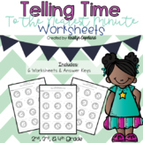 Telling Time to the Minute Worksheets: Digital & Printable