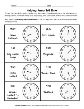 Reading a clock/telling time analogue and digital by mip2k ...
