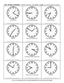 Telling Time to the Nearest 5 Minutes - AM/PM Schedule