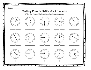 telling time to the nearest 5 minutes bundle resource pack by kdgteacherabc. Black Bedroom Furniture Sets. Home Design Ideas