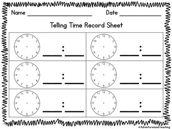 Telling Time to the Nearest 5 Minutes Dominoes Matching Game 2.MD.C.7