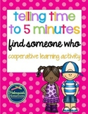 Telling Time to the Nearest 5 Minutes - Find Someone Who
