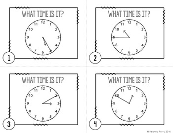 Telling Time to the Nearest 5 Minutes Task Cards