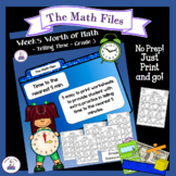 Telling Time to the Nearest 5 Minutes - Week's Worth of Math