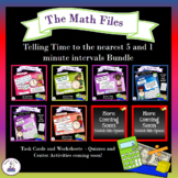 Telling Time to the Nearest 5 and 1 minute intervals bundle
