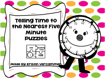 Telling Time to the Nearest Five Minute Puzzles