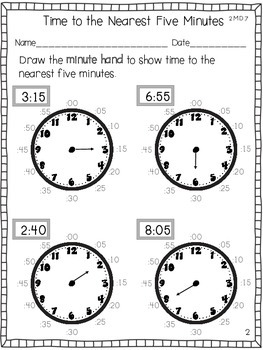 Telling Time to the Nearest Five Minutes