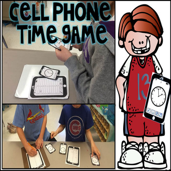 Telling Time to the Nearest Five Minutes Cell Phone Game