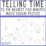 Telling Time to the Nearest Five Minutes Magic Square Puzzles Center Game