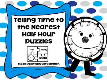 Telling Time to the Nearest Half Hour
