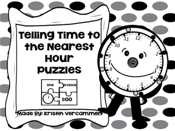 Telling Time to the Nearest Hour Puzzles