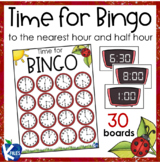 Telling Time to the Nearest Hour and Half Hour BINGO boards