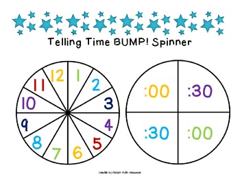 Telling Time to the Nearest Hour and Half-Hour BUMP!