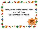 Telling Time to the Nearest Hour and Half Hour Go Fish